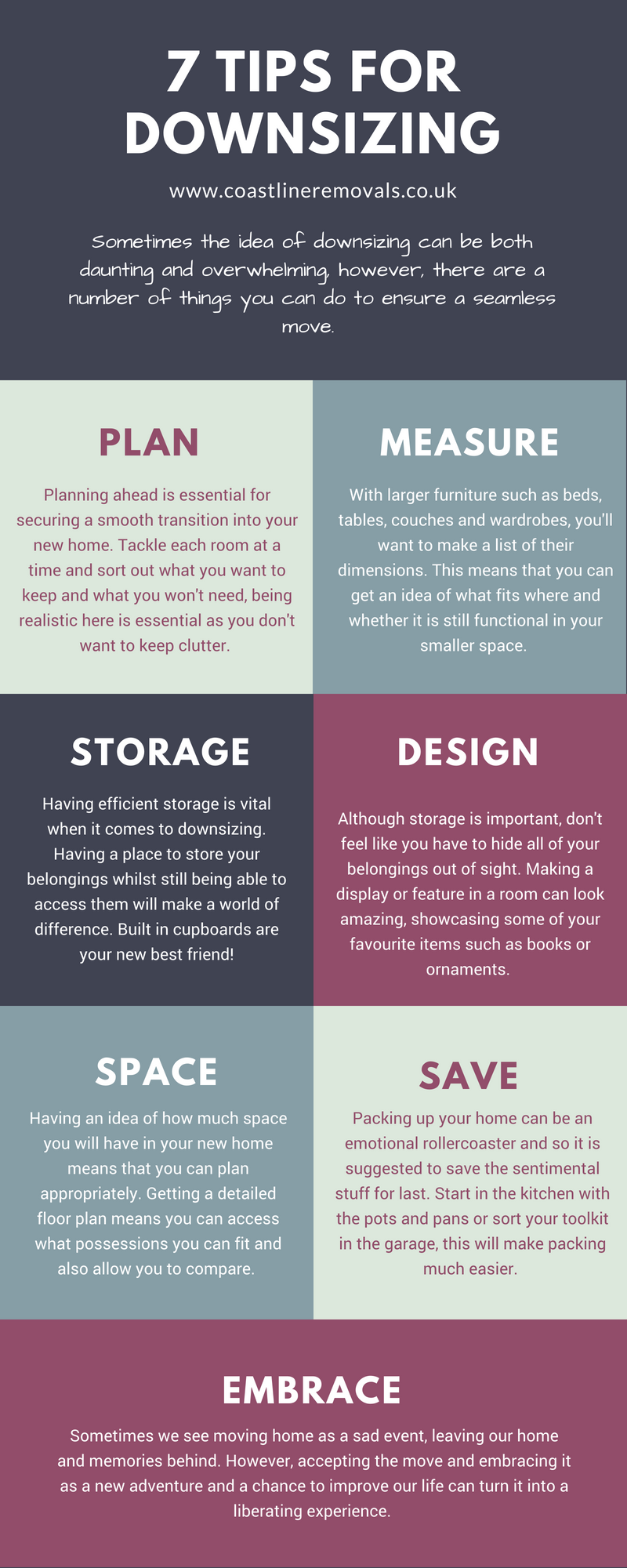 Tips for Downsizing Infographic